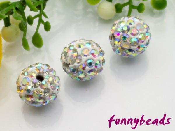 Shamballa Perle 10 mm kristall AB