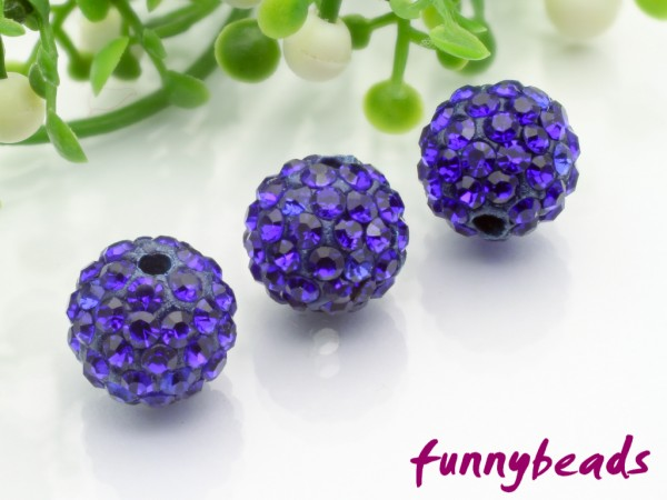 Shamballa Perle 10 mm cobaldblau Klasse A