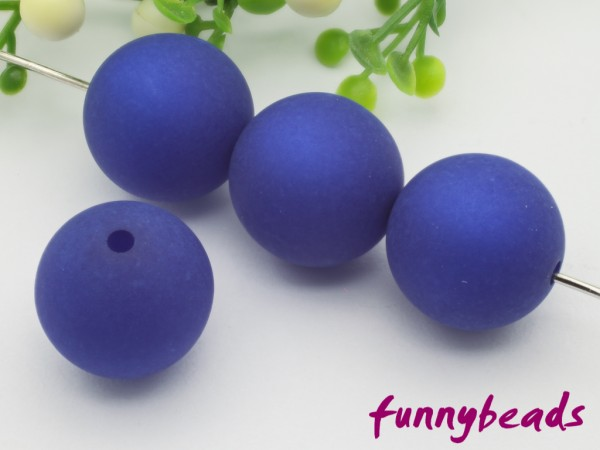 Polarisperle 20 mm rund königsblau