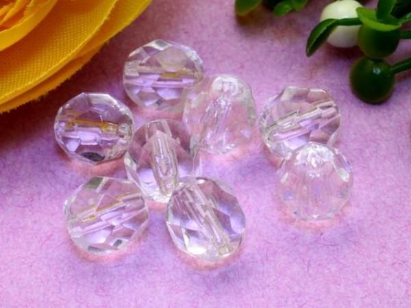 30 Glasschliffperlen kristall 7 mm