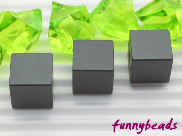 Aluminiumwürfel anthrazit 8 mm