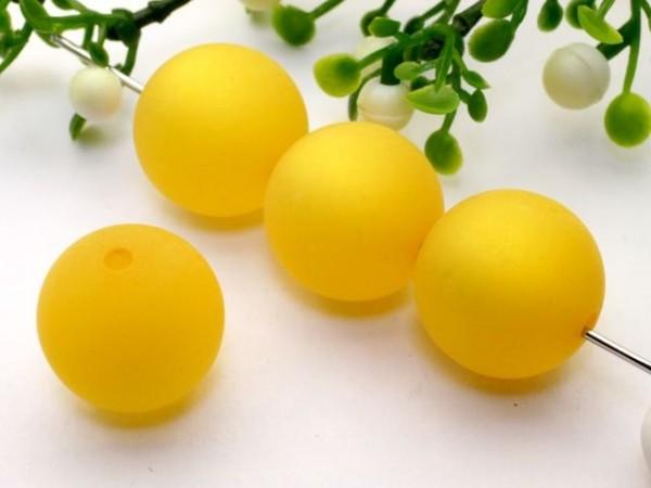 Polarisperle 20 mm rund gelb