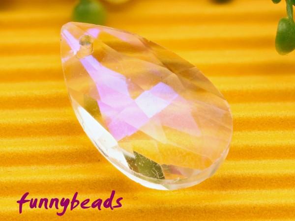 Glasanhänger Tropfen crystal 13 x 22 mm