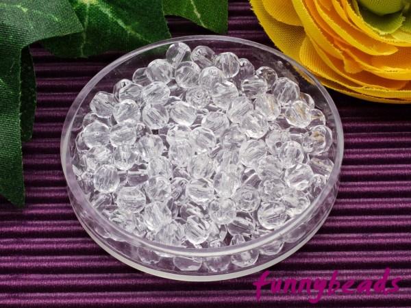 100 Glasschliffperlen crystal 4 mm