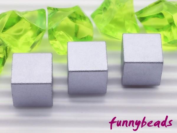 Aluminiumwürfel light violett 8 mm