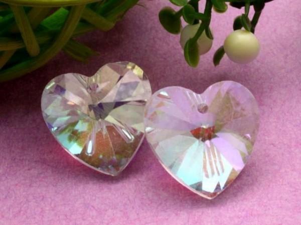 Glasanhänger Herz Crystal AB 14 mm
