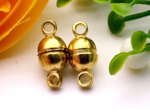 Magnetverschluss Kugel goldfarben 11 x 6 mm
