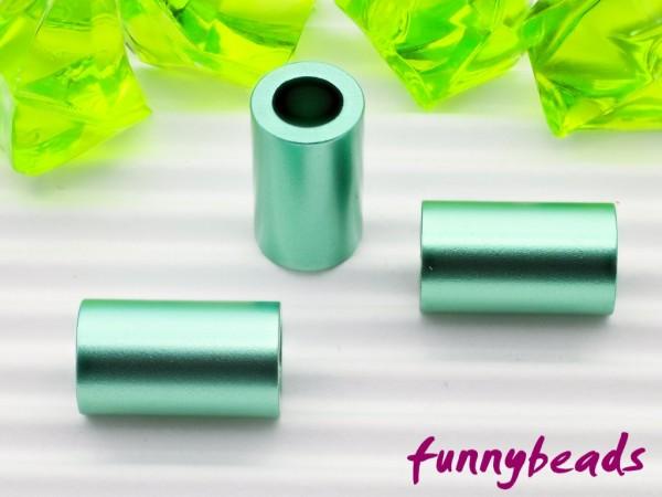 Aluminiumröhrchen 6 x 10 mm hellgrün