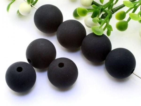 Polarisperle 12 mm rund schwarz