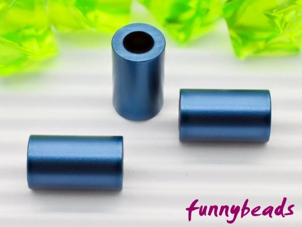 Aluminiumröhrchen 6 x 10 mm nachtblau