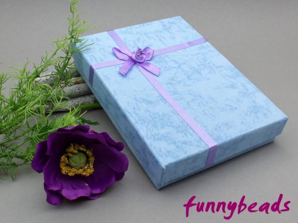 Geschenkbox mit Einlage hellblau 12 x 16 cm