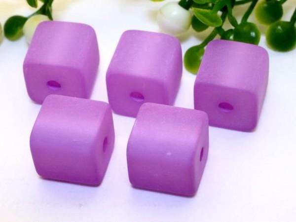 Polarisperle Würfel 4 x 4 mm violett