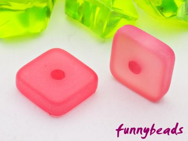Polaris Spacer Quadrat Scheibe eckig 6 mm rosa