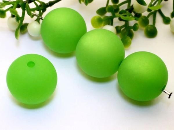 Polarisperle 16 mm rund grün