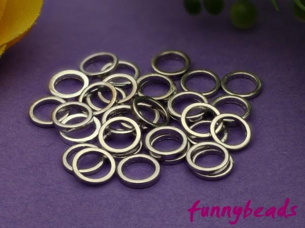 50 Ringe geschlossen 6 mm platinfarben