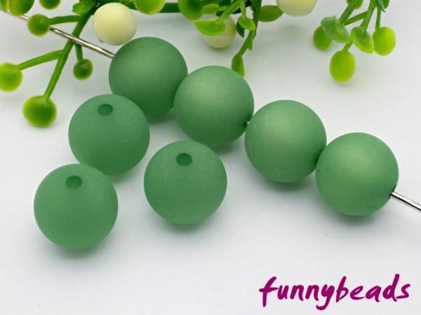 Polarisperle 14 mm rund grasgrün
