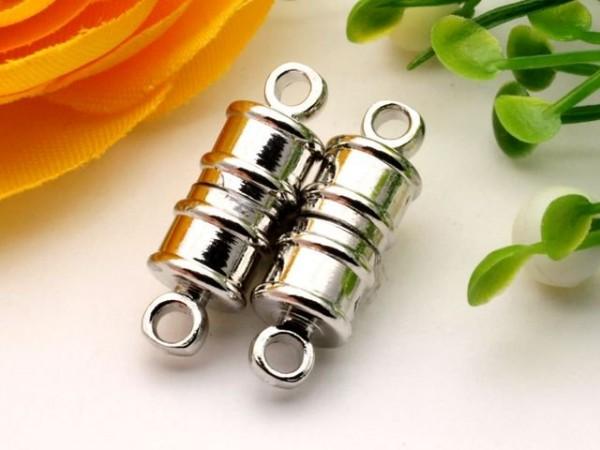 Magnetverschluss platinfarben 16 x 6 mm