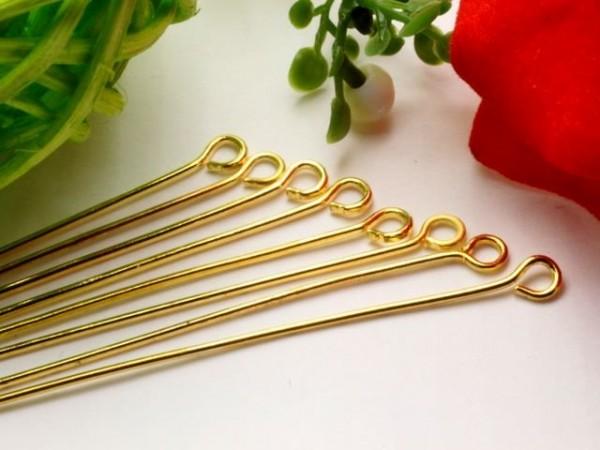 50 Kettelstifte 30 mm goldfarben