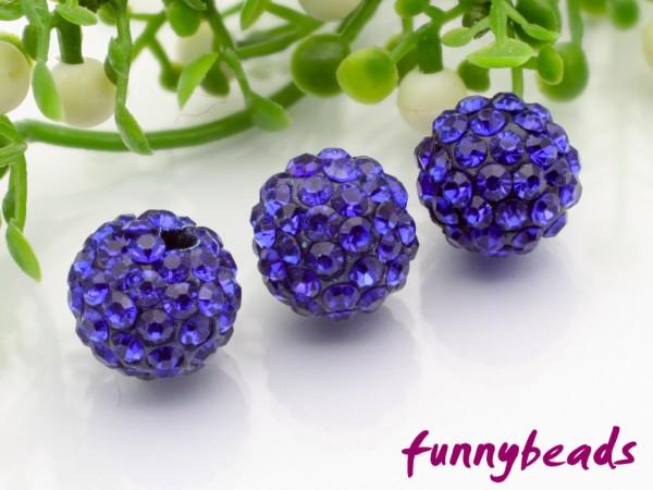 Shamballa Perle 10 mm königsblau