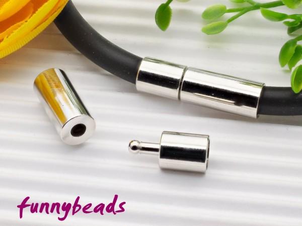 Steckverschluss für 3 mm Bänder