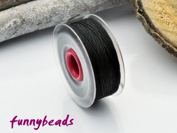 Perlseide 0,2 mm 37 m schwarz