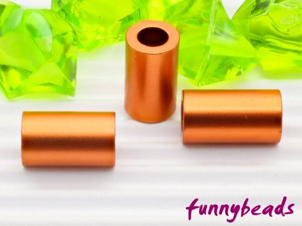 Aluminiumröhrchen 6 x 10 mm orange