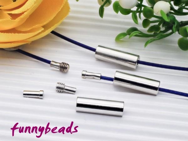 Drehverschluss 3-teilig für 1 mm Halsreifen