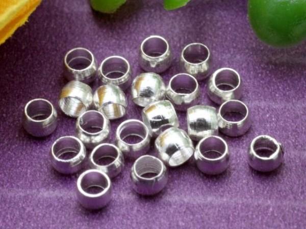 2,5g Quetschperlen silberfarben 2 mm