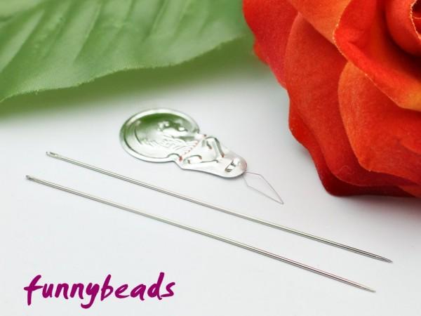 2 Perlnadeln mit Nadeleinfädler