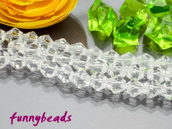 1 Strang Glasschliffperlen Bicone 6 mm crystal