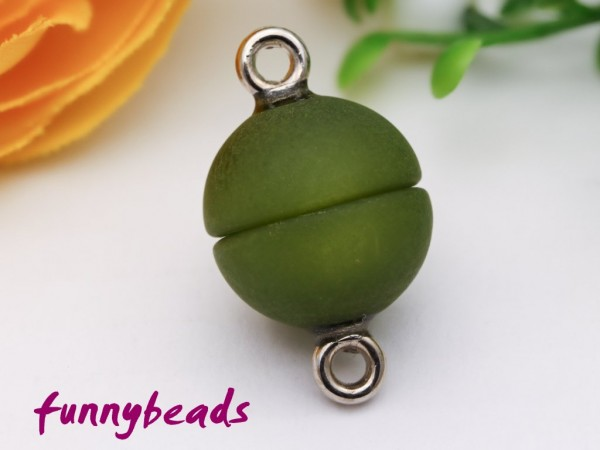 Polaris Magnetverschluss olivgrün 12 mm