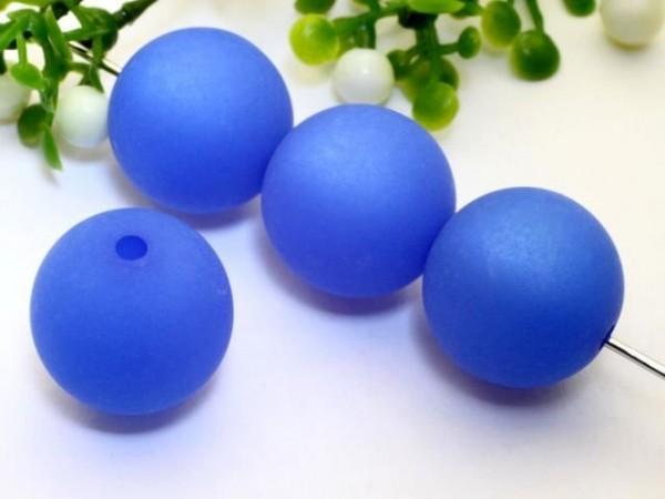 Polarisperle 20 mm rund capri blau