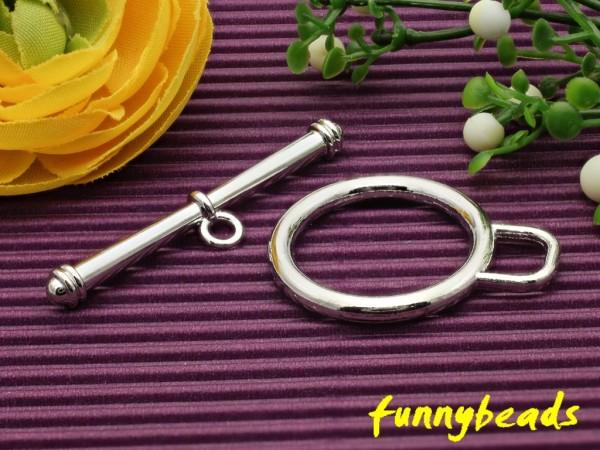 Knebelverschluss Ring groß 2-teilig