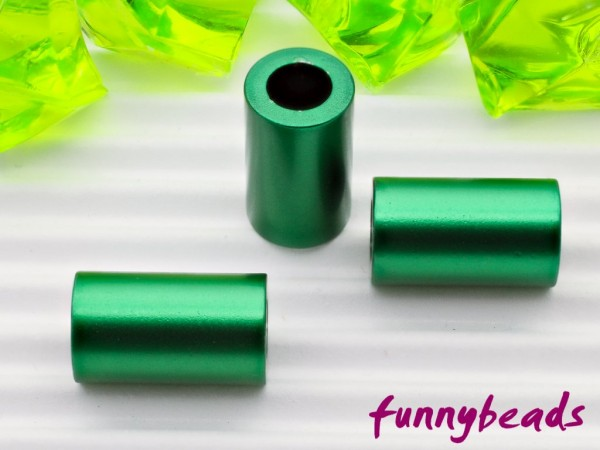 Aluminiumröhrchen 6 x 10 mm grün