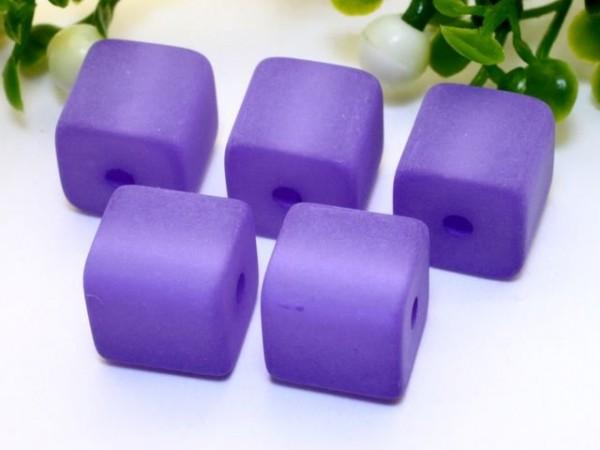 Polaris Würfel 8 x 8 mm violett
