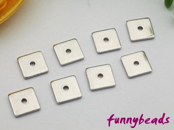 1 Spacer Quadrat Metall flach Edelstahl 304 6 x 6 mm