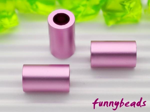 Aluminiumröhrchen 6 x 10 mm rosa