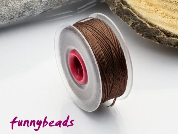 Perlseide 0,2 mm 37 m braun