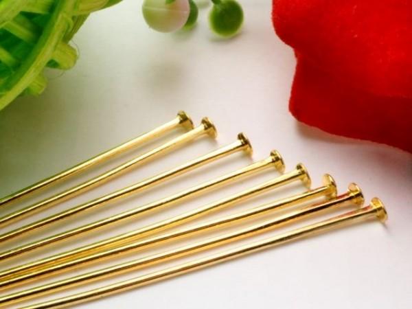 50 Nietstifte 30 mm goldfarben