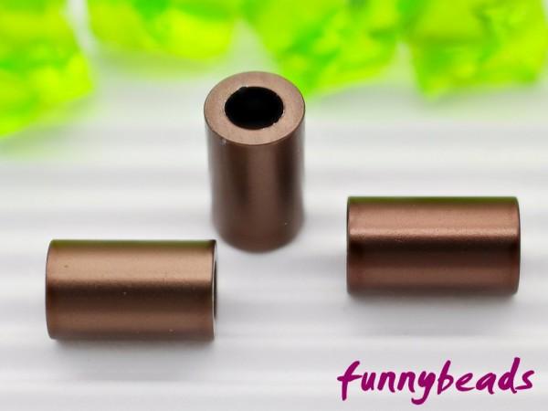 Aluminiumröhrchen 6 x 10 mm braun